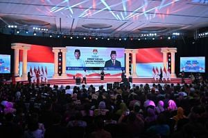 The second presidential debate between incumbent President Joko Widodo and retired army general Prabowo Subianto in Jakarta on Feb 17, 2019.