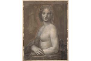 Monna Vanna, better known as the nude Mona Lisa, is pictured at the Domaine de Chantilly.