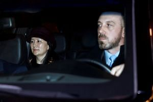 Meng Wanzhou arrives in the Vancouver court's parking garage, March 6, 2019.