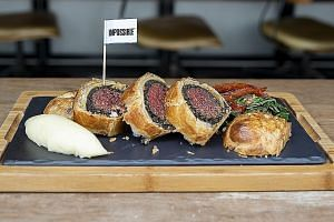 The Impossible Wellington from Bread Street Kitchen at Marina Bay Sands tasted excellent, said Straits Times food editor Tan Hsueh Yun.
