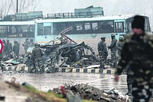 The aftermath of the Feb 14 suicide attack by a young Kashmiri man on a convoy of Indian paramilitary forces in Kashmir which killed at least 40 soldiers.