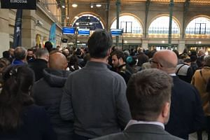 A photo of the queue at Gare du Nord sent out on Twitter by an irate passenger.
