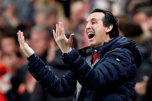 Arsenal manager Unai Emery during the Europa League match against Rennes.
