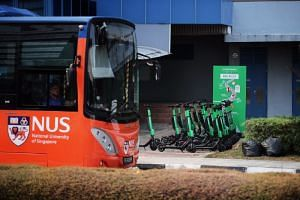 """The one-week safety timeout has been imposed on the GrabWheels service from 3pm on March 8, 2019, to """"reinforce the importance of safe-riding habits for the safety and well-being of the NUS community""""."""