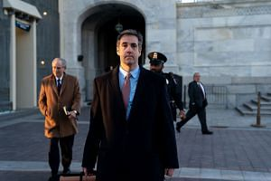 Cohen leaves the US Capitol after a closed-door hearing with the House Intelligence Committee.