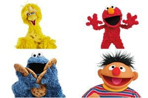 (Clockwise from top left) Big Bird, Elmo, Ernie and Cookie Monster from Sesame Street.