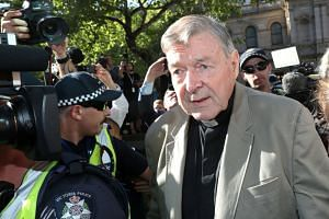 Cardinal George Pell arriving at County Court in Melbourne, Australia, on Feb 27, 2019.