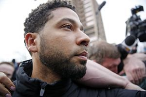Smollett leaves Cook County jail after posting bail on Feb 21, 2019 in Chicago, Illinois.