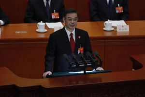Head of the Supreme People's Court and Chief Justice Zhou Qiang speaking during the 3rd plenary meeting of the second session of the 13th National People's Congress at the Great Hall of the People in Beijing, China, on March 12, 2019.