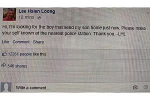 A photo showing a Facebook post purportedly made by PM Lee Hsien Loong about the incident was circulating online, such as on Facebook and Telegram. On March 17, 2019, police said that the post is fake and they are investigating the matter.