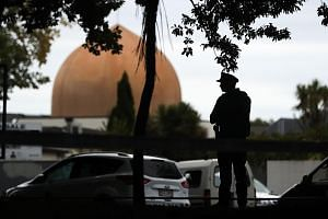 An armed policeman at the Al Noor Mosque in Christchurch after a right-wing extremist went on a shooting rampage in the New Zealand city last Friday. Such attacks are the latest manifestation of a growing and globalised ideology of white nationalism