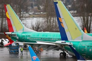 Boeing 737 MAX airplanes are pictured at the Boeing Renton Factory in Renton, Washington.