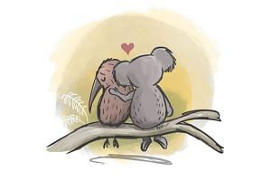 Brisbane illustrator Rebel Challenger's tribute after the Christchurch terror attack showed a koala comforting a kiwi.