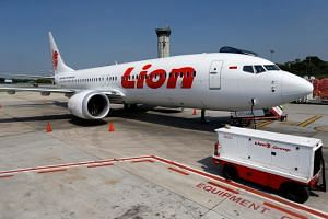 A Lion Air Boeing 737 Max 8 airplane parked on the tarmac of Soekarno Hatta International Airport, near Jakarta, Indonesia, on March 15, 2019.