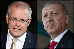 Australian PM Scott Morrison (left) condemned the comments made by Turkish leader Recep Tayyip Erdogan presenting the attack as part of an assault on Turkey and Islam.