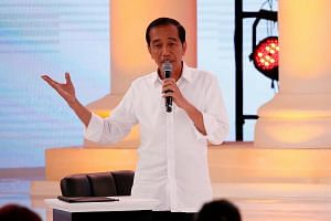 Ten political parties backing Indonesian President Joko Widodo are expected to get 52.3 per cent of votes on April 17, 2019.