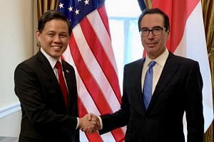 Minister for Trade and Industry Chan Chun Sing, who was on an introductory visit to Washington DC, met Treasury Secretary Steven Mnuchin.