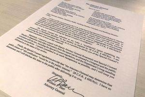 US Attorney General William Barr's letter to US lawmakers stating that the investigation by Special Counsel Robert Mueller has been concluded, on March 22, 2019.