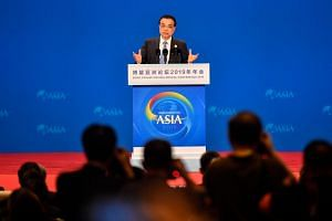China's Premier Li Keqiang delivers a speech during the opening of the Boao Forum for Asia (BFA) Annual Conference 2019, on March 28, 2019.