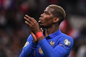Pogba in action for France during the Euro 2020 quakifiers.