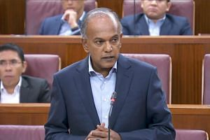 Minister for Home Affairs K. Shanmugam said in a written parliamentary reply to Workers' Party chairman Sylvia Lim (Aljunied GRC) that he had directed the police to state the man's record without disclosing his name.