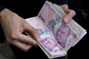The lira tumbled almost 30 per cent against the dollar last year and Turkey's economy has tipped into recession.