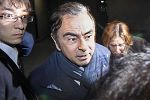 Former Nissan Motor Chairman Carlos Ghosn leaving his lawyer's office in Tokyo, Japan, on April 3, 2019.