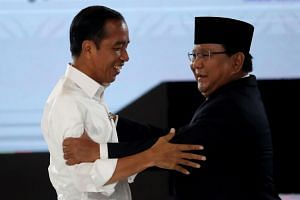 Incumbent President Joko Widodo (left) and presidential hopeful Prabowo Subianto will likely use most of the last debate to unveil their vision on how to use taxes for the maximum benefit of the people.