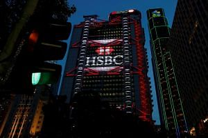 HSBC headquarters at the financial central district in Hong Kong, on Sept 6, 2017.