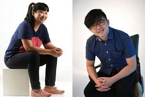 The sound designers nominated for The Straits Times Life Theatre Awards this year are Angie Seah (left), Vick Low (right), Teo Wee Boon and Chris Wenn.