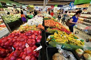 Supermarkets and hypermarkets registered sliding sales of 13.2 per cent lower than last year, while department stores saw a drop of 11.8 per cent.