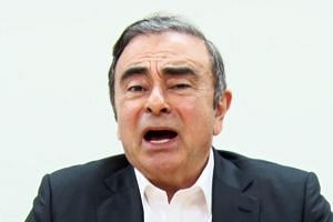 Former Nissan chief Carlos Ghosn in a video message recorded on April 3, 2019, before his rearrest in Tokyo.