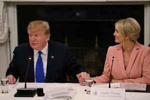 US President Donald Trump said he has thought of his daughter Ivanka for several different positions, but has been dissuaded because of the appearance of nepotism.