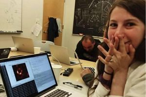 In 2016, Dr Katie Bouman developed an algorithm to sift through a true mountain of data gathered by the Event Horizon Telescope project from telescopes around the world to create an image.