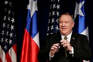 Secretary of State Mike Pompeo lashed out at the two longtime adversaries as the Trump administration seeks to topple President Nicolás Maduro and grow a coalition of countries supporting opposition leader Juan Guaidó.