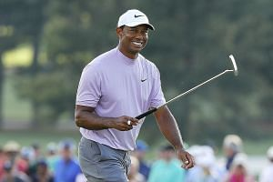 Tiger Woods is delighted after carding a five-under 67 on Saturday, his second straight round in the 60s, to go with his opening 70.