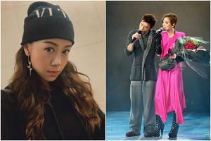 Andy Hui was caught cheating on his wife Sammi Cheng with TVB actress Jacqueline Wong (left).