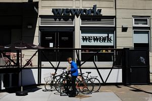 A WeWork co-working space in New York on March 26, 2019. The firm has pulled out of five talks to take on new space in Hong Kong, sources said.