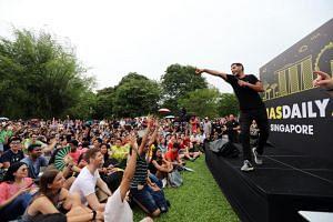 Nas Daily at his fan meet at the Botanic Gardens on April 20, 2019.