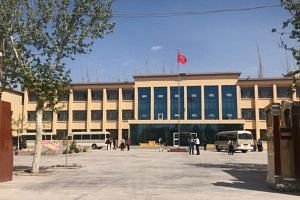 The Shu Le County Education Centre in Xinjiang, China, one of an unknown number of re-education camps in the Muslim-majority region where the US State Department says as many as two million Uighurs are being held.