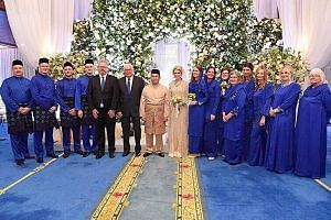 About 300 people attended the wedding in Kota Baru. Kelantan Crown Prince Tengku Muhammad Faiz Petra and Swedish national Sofie Louise Johansson have known each other since his student days overseas.