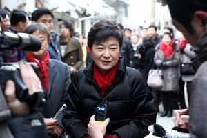 """Former South Korean president Park Geun-hye (pictured) has complained about """"searing"""" back pain and other health problems, and prosecutors are considering her request for temporary release from prison."""