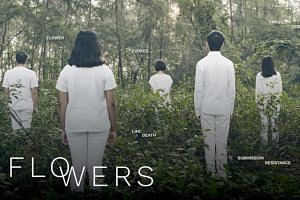 Flowers is an experiential installation by Drama Box that explores violence in a family setting.