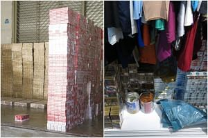 A total of 2,967 cartons and 19,018 packets of duty-unpaid cigarettes were seized from the operations.