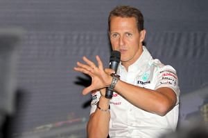 German racer Michael Schumacher was placed in a medically induced coma after hitting his head against a rock during a skiing accident in the French Alps in 2013.