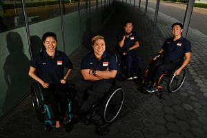 (From left) Yip Pin Xiu, Theresa Goh, Eugene Png and Toh Wei Soong will compete at the World Para Swimming World Series in Singapore from May 10 to 12.