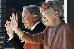 Emperor Akihito and Empress Michiko in Tokyo in 2017. The 85-year-old Emperor, who will step down on Tuesday after 30 years on the throne, is abdicating because of old age. His son, Crown Prince Naruhito, 59, will take over on Wednesday. Analysts say