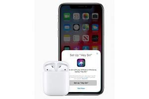 The Apple AirPods 2, with a hands-free Siri activation feature.