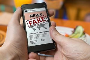"""The Protection from Online Falsehoods and Manipulation Bill aims to, among other things, """"prevent the electronic communication in Singapore of false statements of fact"""" and """"suppress support for and counteract the effects of such communication"""". PHOT"""