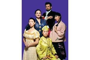 (Clockwise from top) The cast of Civilised is Ghafir Akbar, Lian Sutton (yes, in pigtails), Siti Khalijah Zainal, Koh Wan Ching and Edith Podesta.